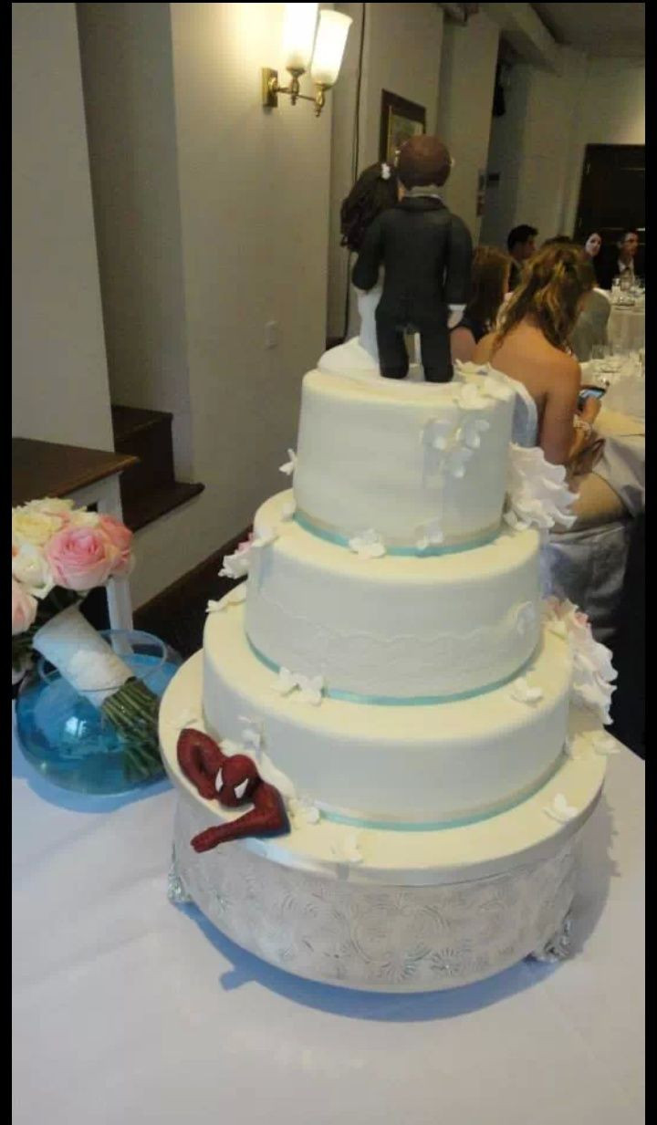 Spiderman Wedding Cakes  15 best Hidden Spider Man Wedding Cakes images on