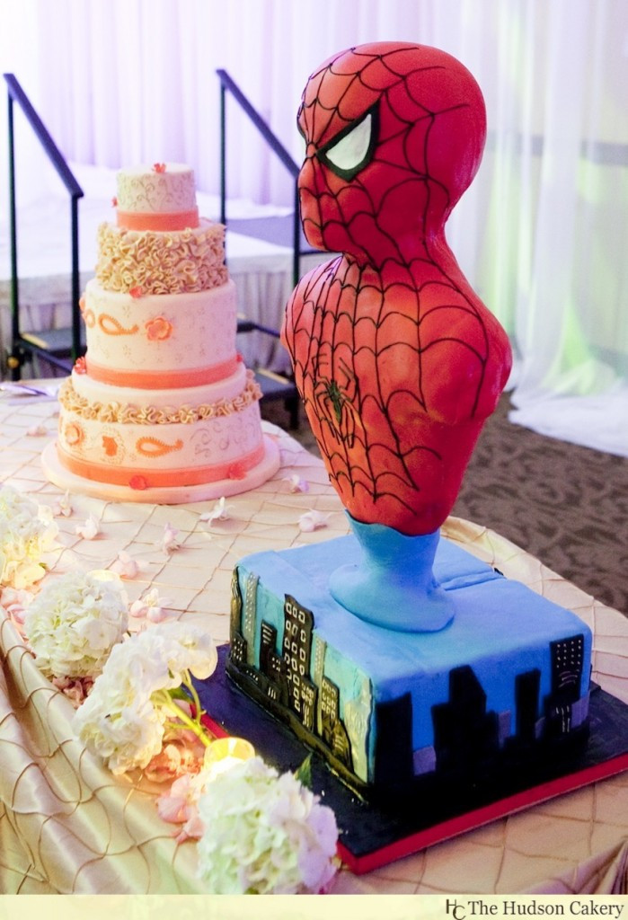 Spiderman Wedding Cakes  It Takes Two to Make a Thing Go Ri iiight…for this