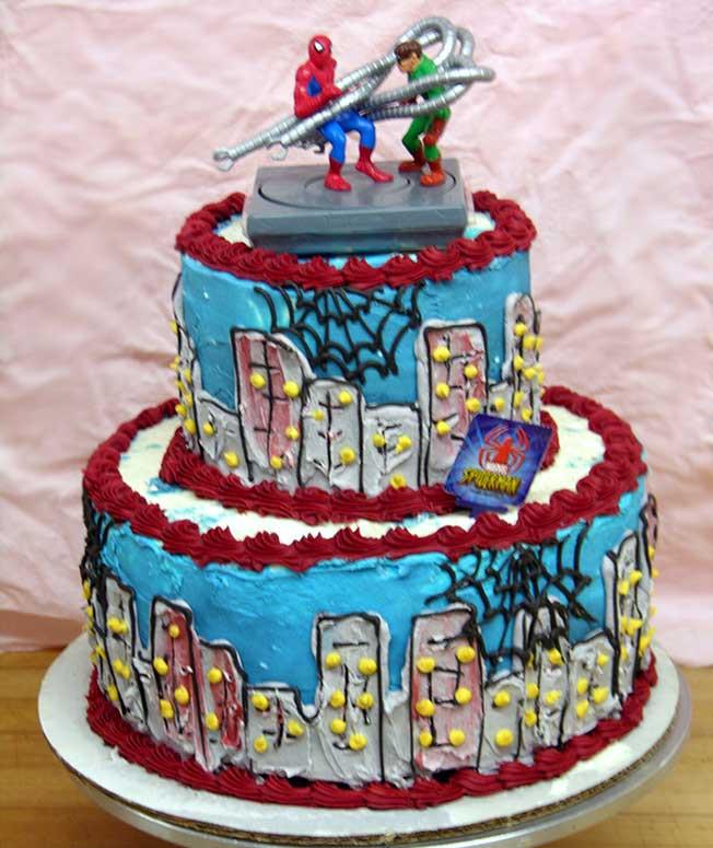 Spiderman Wedding Cakes  Spiderman Theme Wedding Cakes Ideas