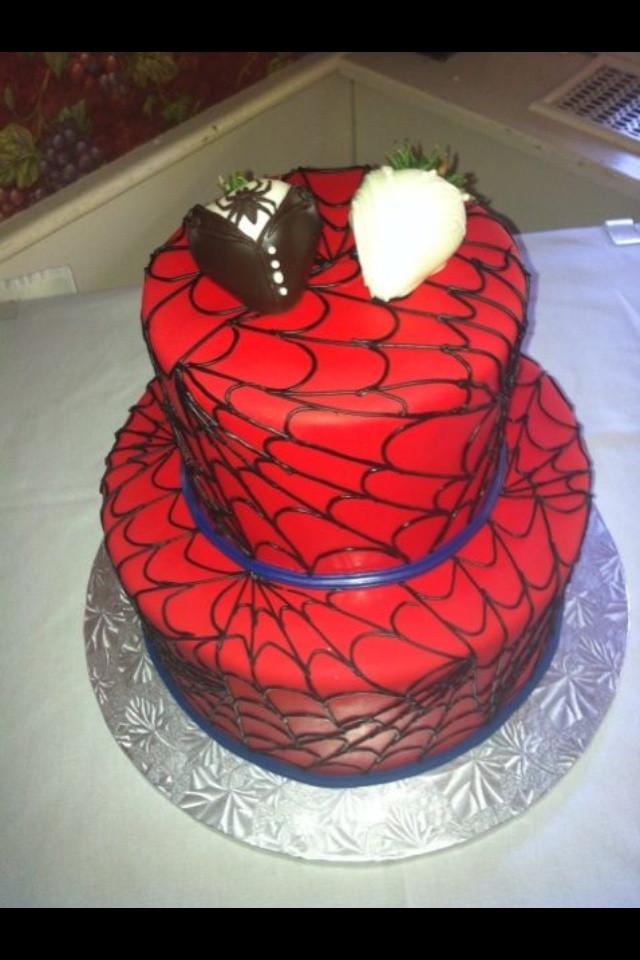 Spiderman Wedding Cakes  Spiderman Wedding Cake Wedding and Bridal Inspiration