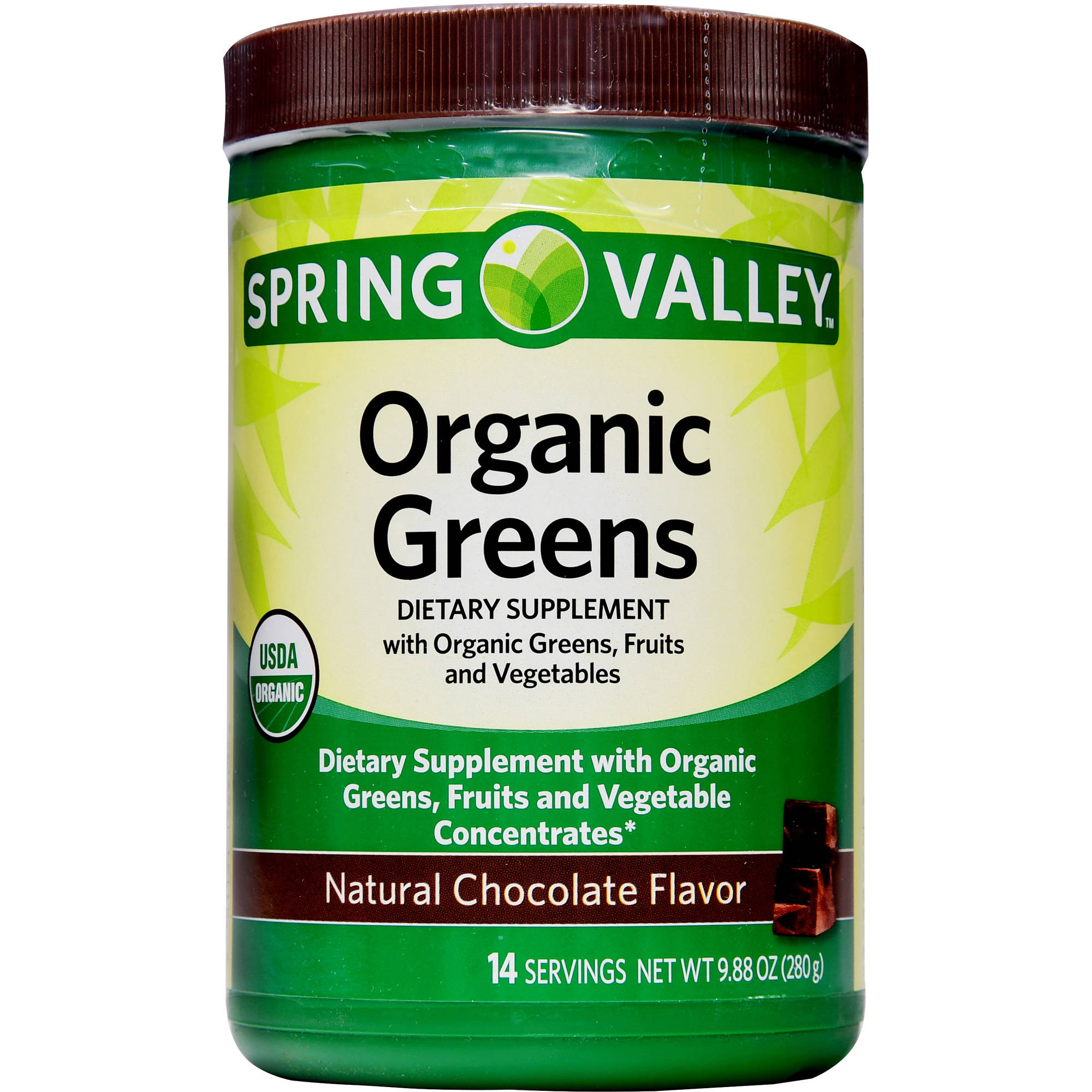 Spring Valley Organic Greens  Spring Valley Organic Greens Natural Chocolate Flavor