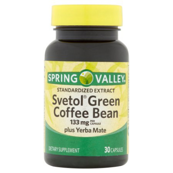 Spring Valley Organic Greens  Spring Valley Svetol Green Coffee Bean Extract Capsules