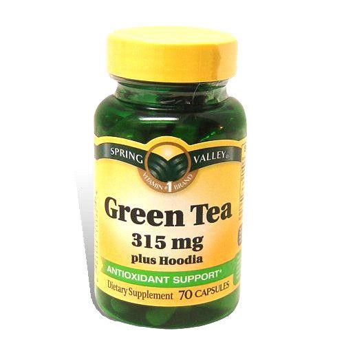 Spring Valley Organic Greens  Spring Valley Green Tea Plus Hoodia Capsules Pills 315mg