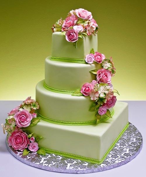 Spring Wedding Cakes  Vibrant Spring Wedding Cakes