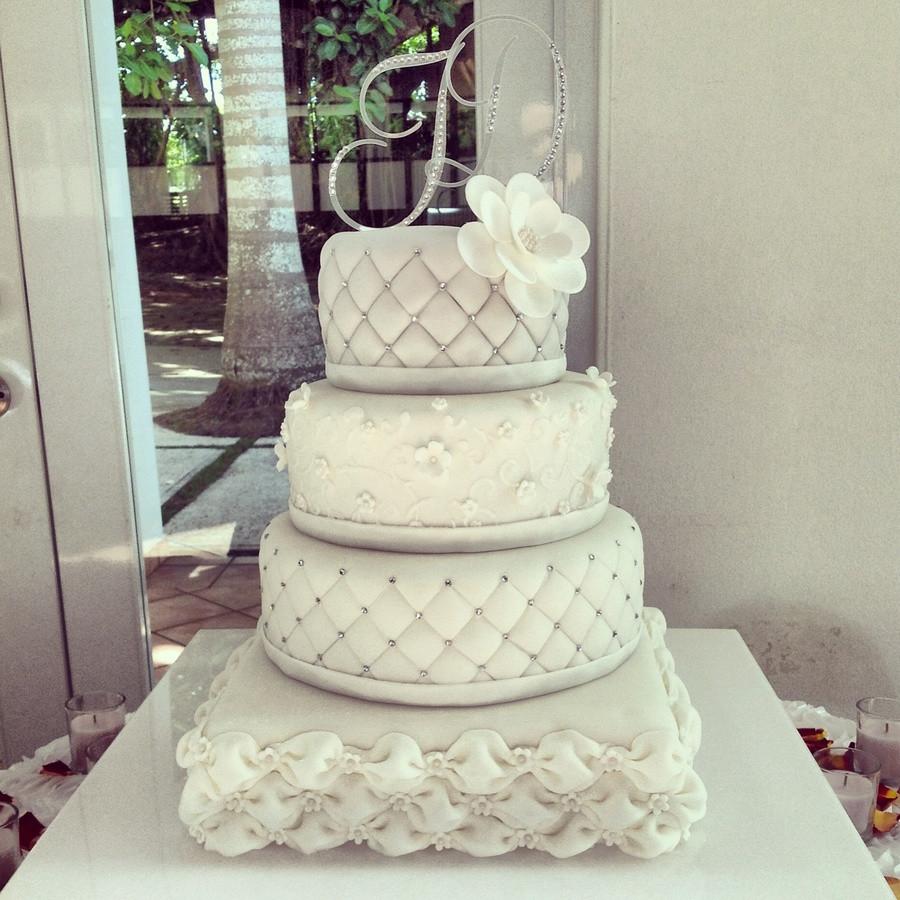 Square And Round Wedding Cakes  Elegant Square And Round Wedding Cake CakeCentral