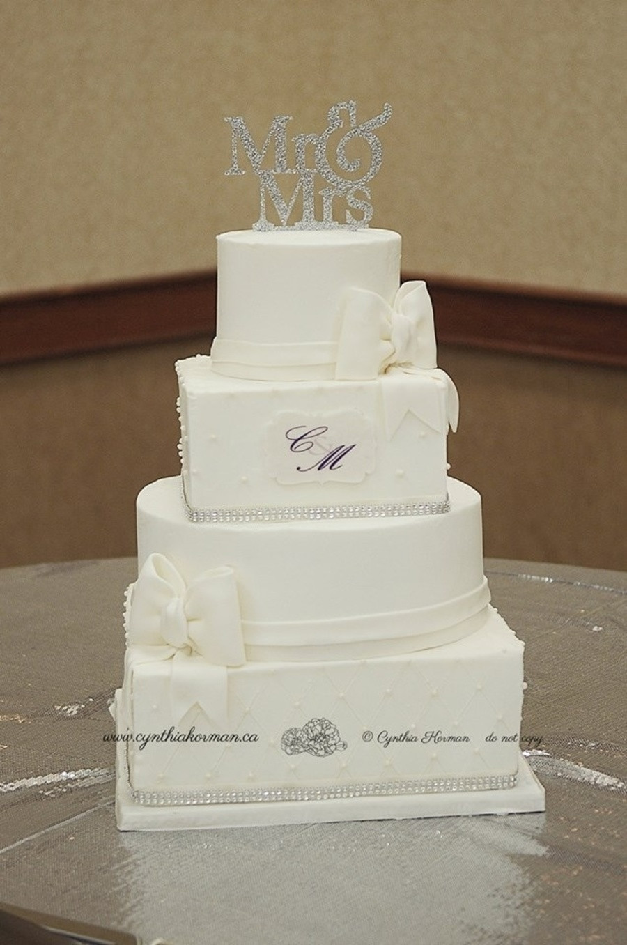 Square And Round Wedding Cakes  Alternating Square And Round Wedding Cake CakeCentral