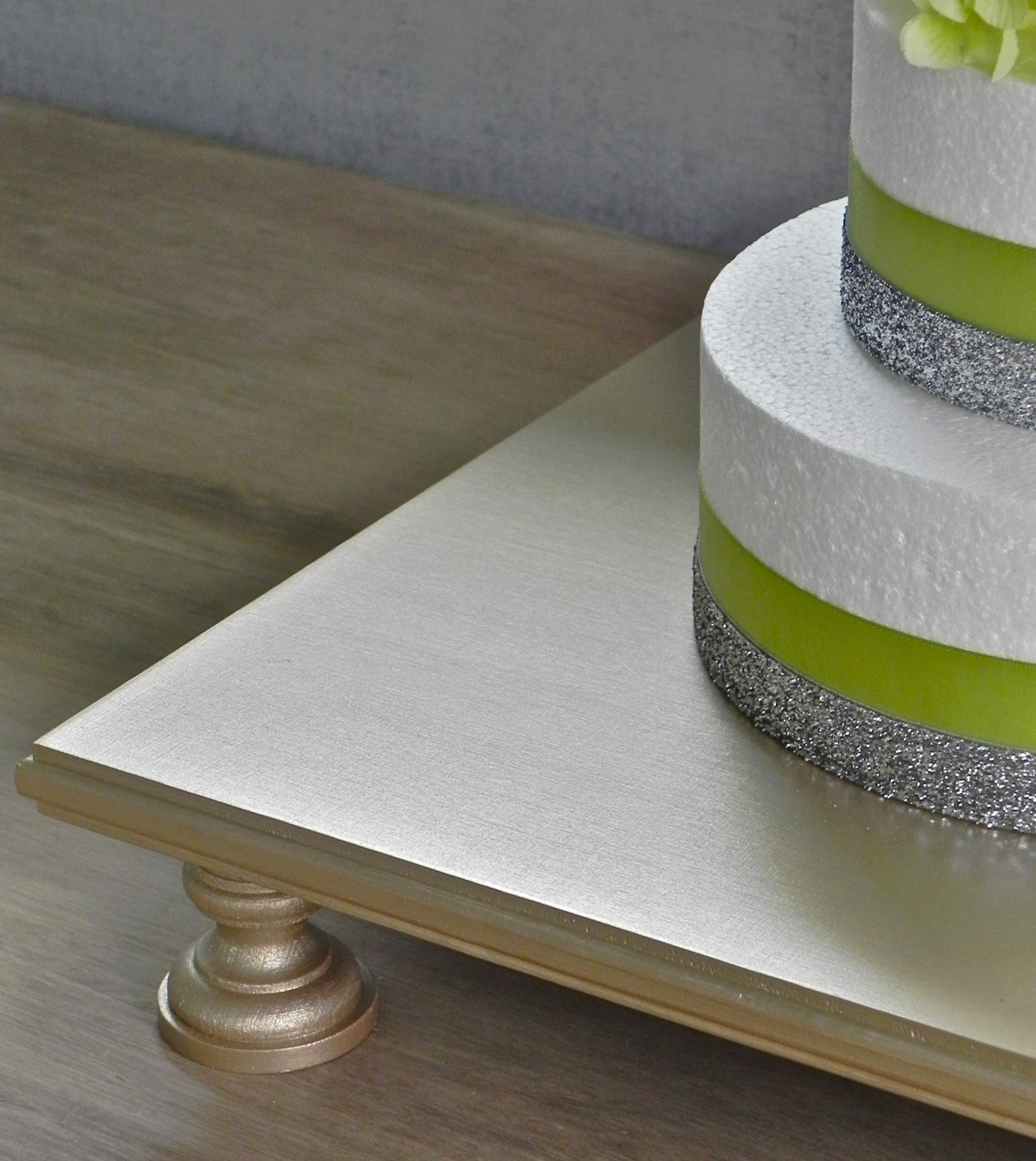 Square Cake Stand For Wedding Cakes  16 Wedding Cake Stand Champagne Square Cupcake by