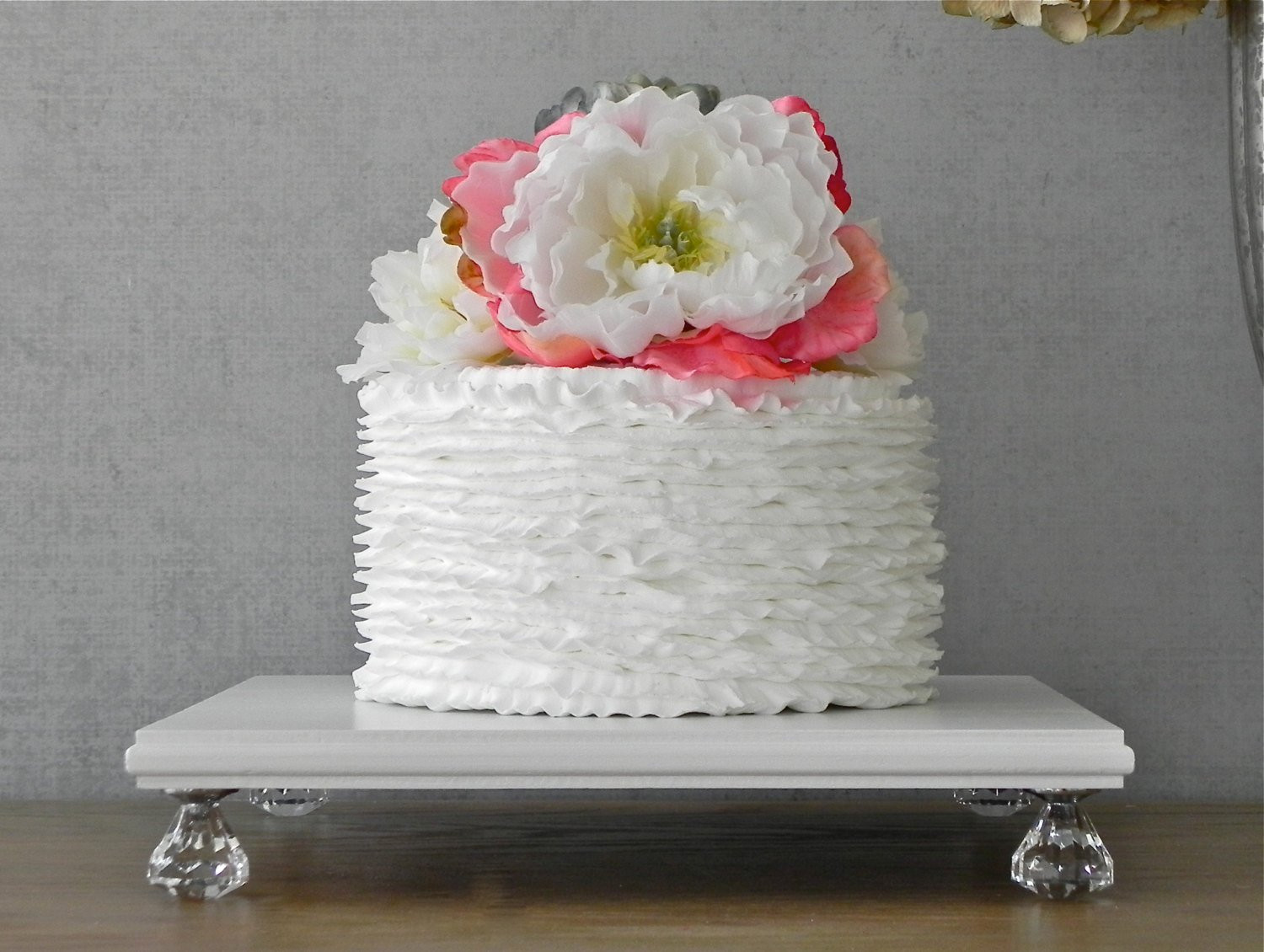 Square Cake Stand For Wedding Cakes  READY TO SHIP 16 Inch Cake Stand Square Wedding Cake Stand