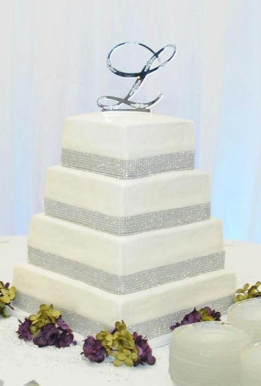 Square Tiered Wedding Cakes  Wedding Cake Ideas 4 Tier Square Wedding Cake with