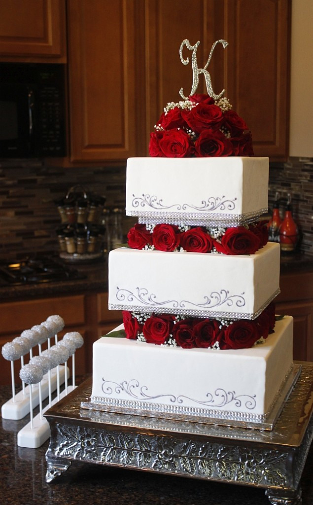 Square Tiered Wedding Cakes  Heavenly Cake Pops