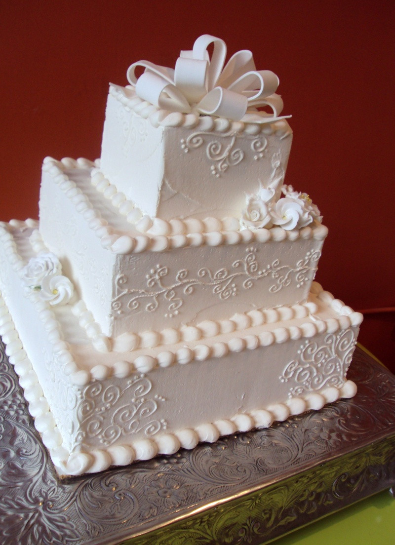 Square Tiered Wedding Cakes  Square tiered wedding cake idea in 2017