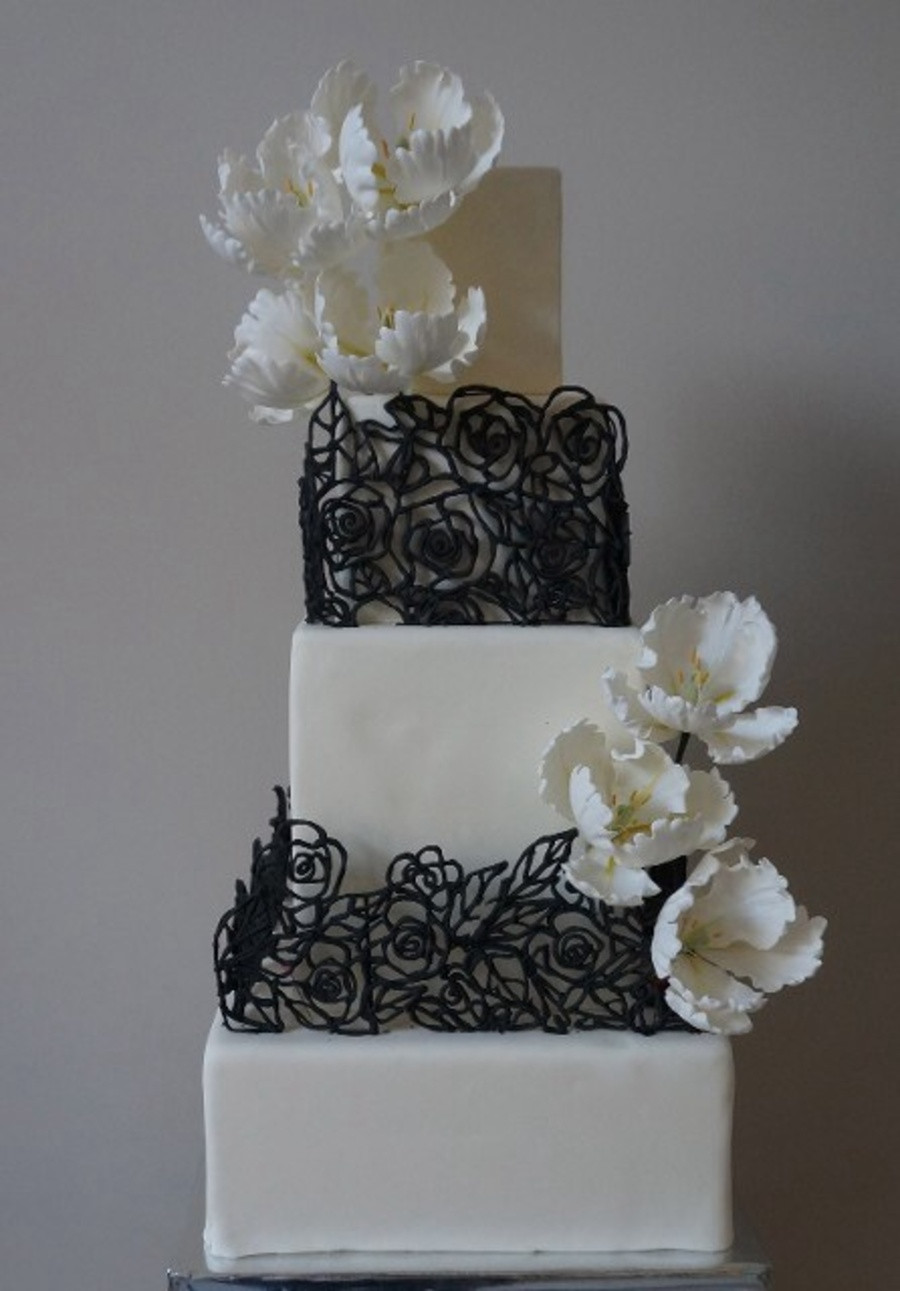 Square Wedding Cakes Pictures  Square Wedding Cakes CakeCentral