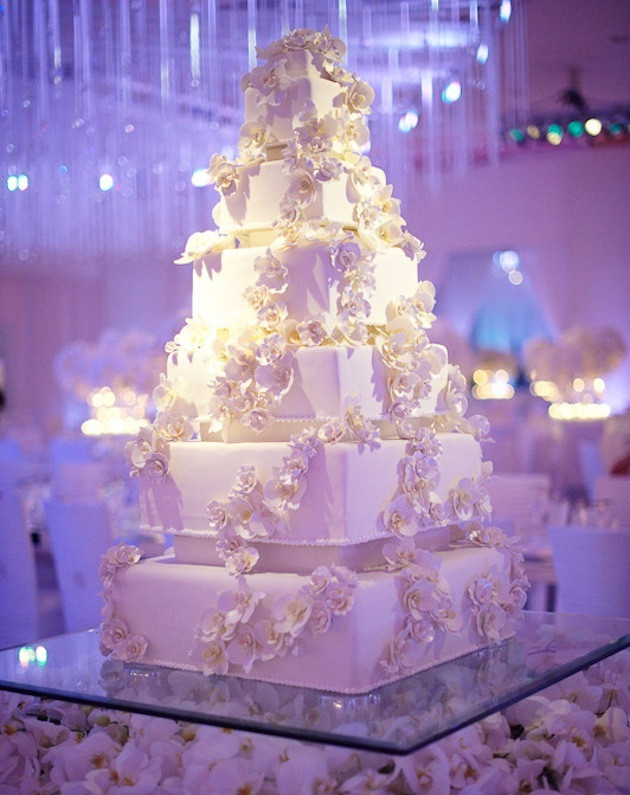 Square Wedding Cakes Pictures  Square Wedding Cakes Cake Ideas Inside Weddings