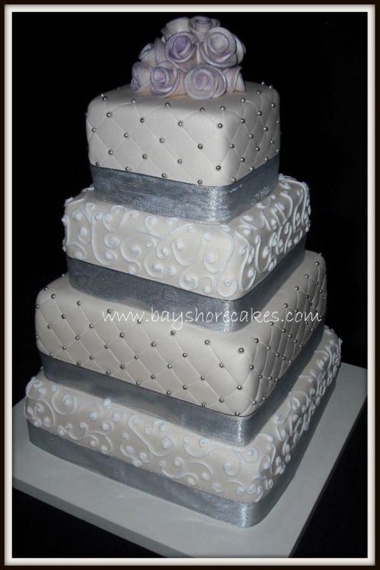 Square Wedding Cakes Pictures  e Stop Wedding Square White Wedding Cakes