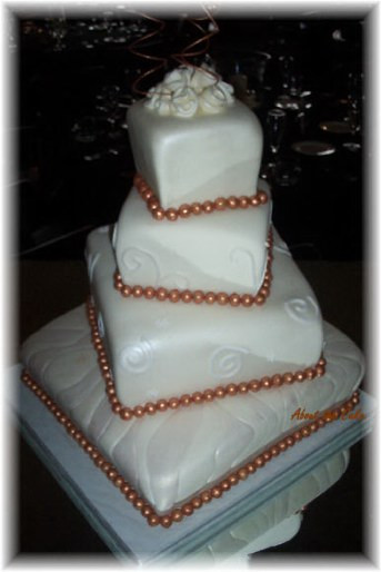 Square Wedding Cakes Pictures  Square Wedding Cake