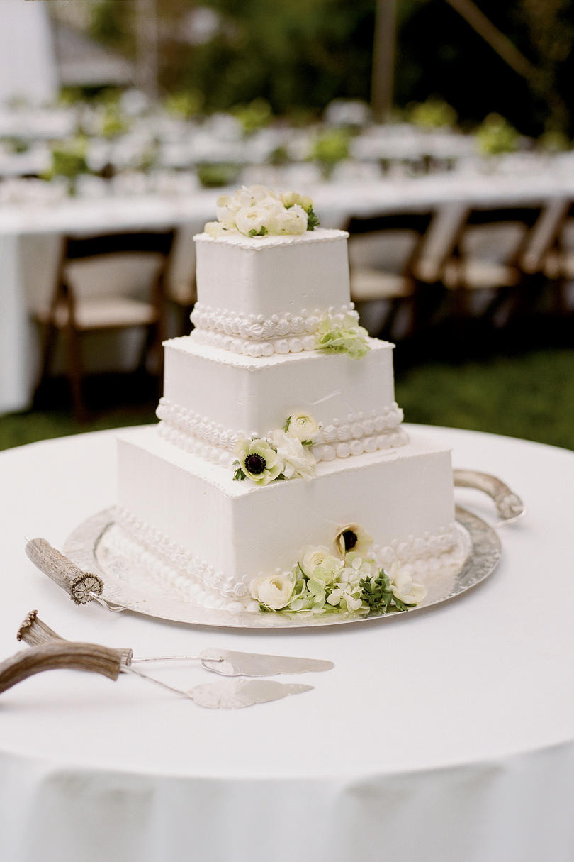 Square Wedding Cakes Pictures  Wedding Cakes with Southern Living