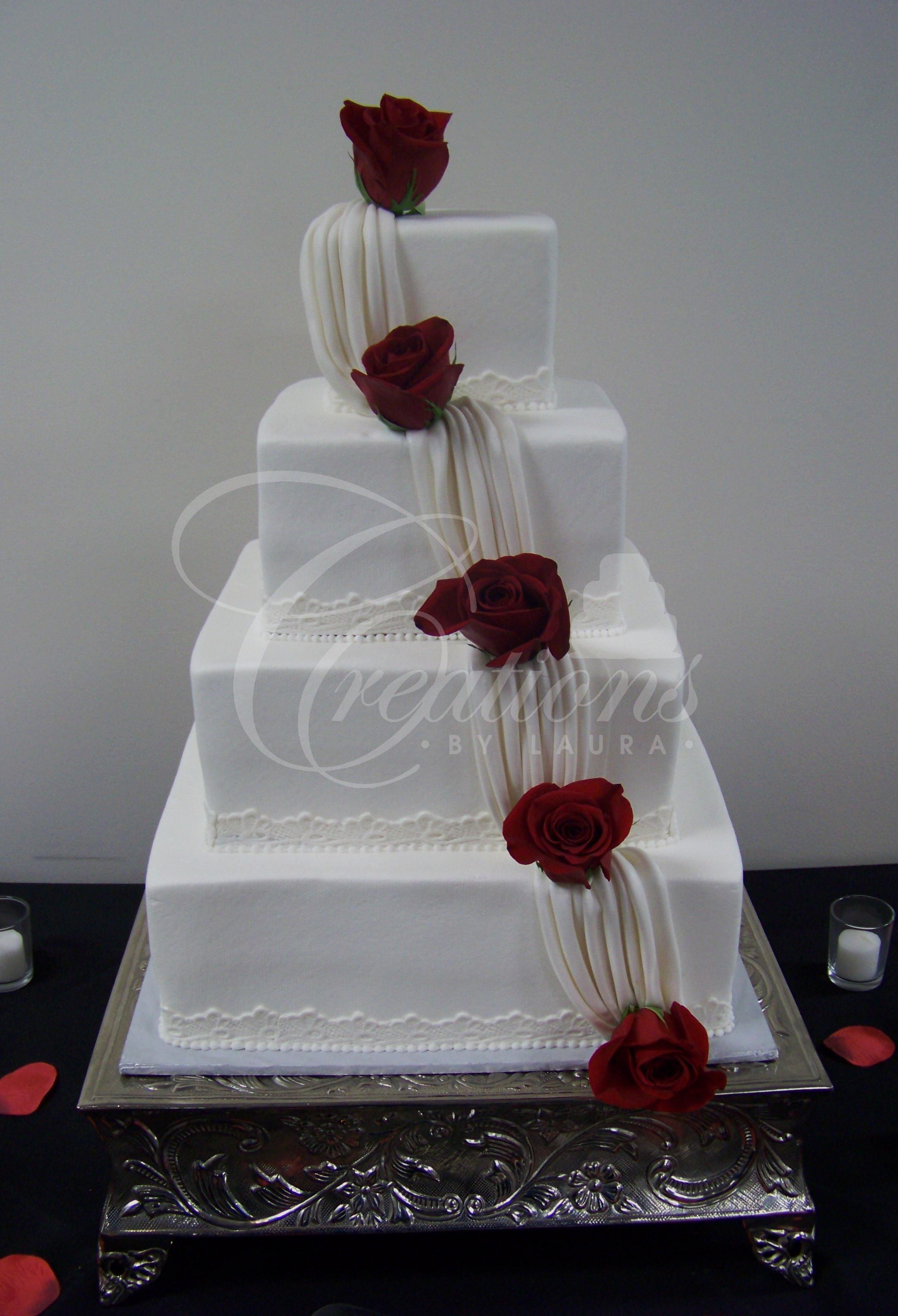 Square Wedding Cakes Pictures  2010 Wedding Cakes