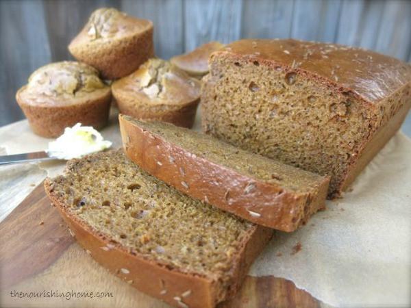 Squaw Bread Healthy  Grain Free Classic Brown Bread & Rolls GF DF The