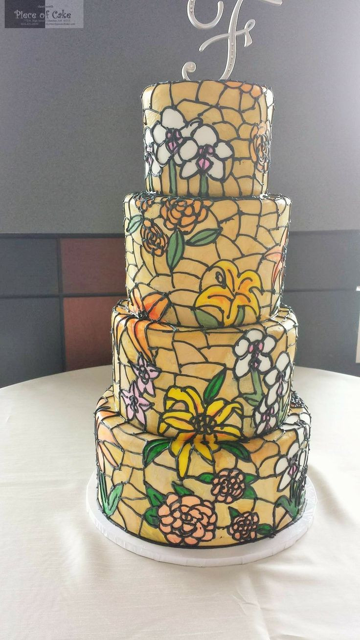 Stained Glass Wedding Cakes  best Wedding Cakes inspiration images on Pinterest