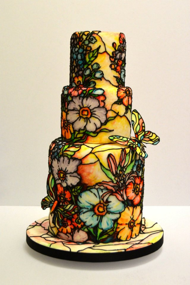Stained Glass Wedding Cakes  Wedding Cakes Fairytale Cakes