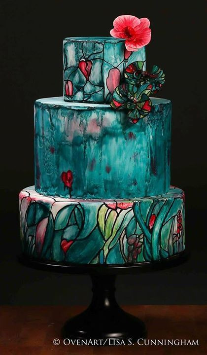 Stained Glass Wedding Cakes  25 Interestingly Unique Wedding Cake Ideas For Your Big Day