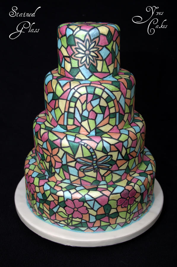 Stained Glass Wedding Cakes  Stained Glass Wedding cake Cake by Yve s Cakes CakesDecor