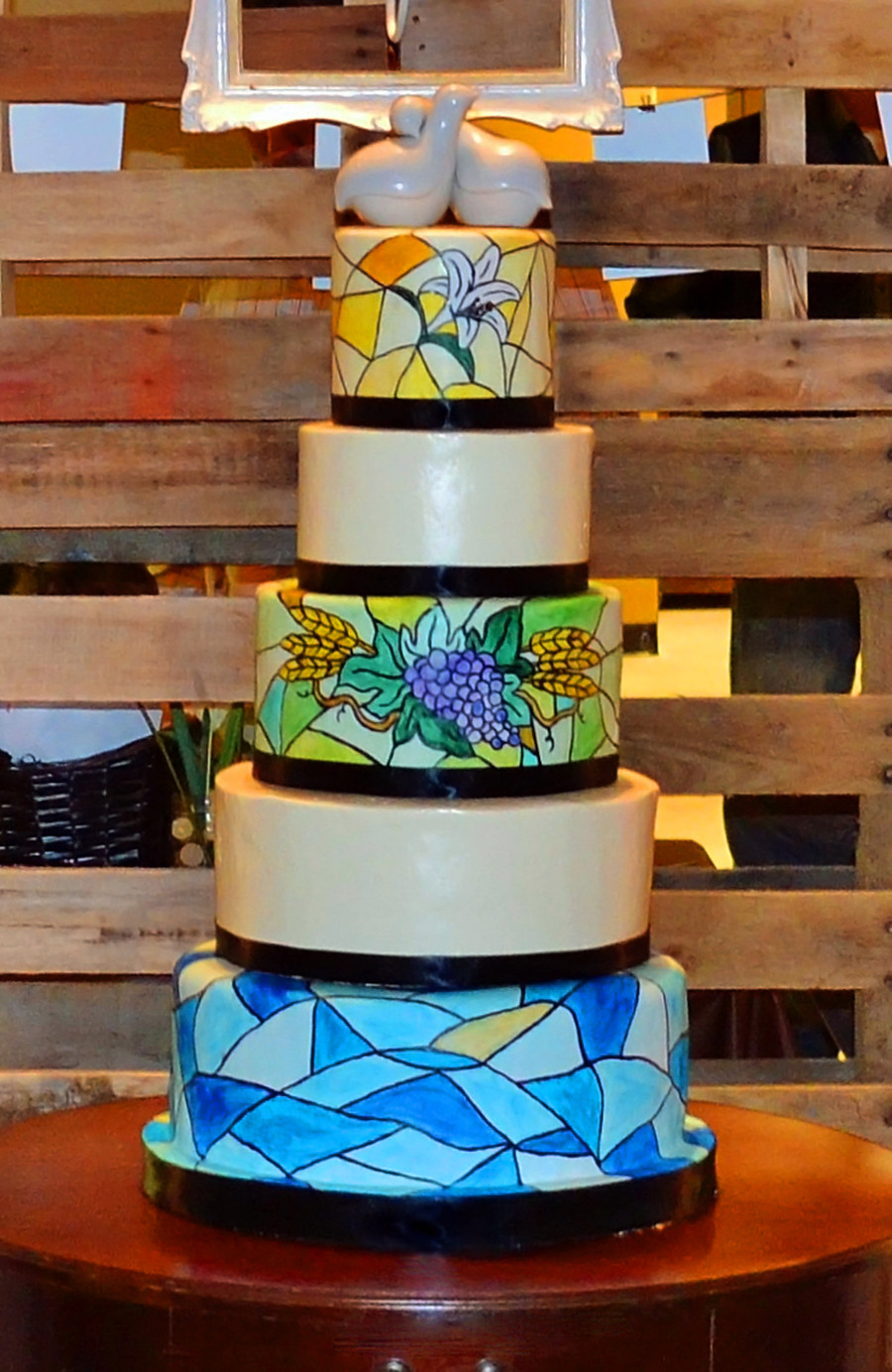 Stained Glass Wedding Cakes  Stained Glass Wedding Cake CakeCentral
