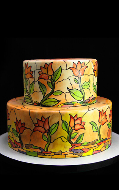 Stained Glass Wedding Cakes  Luxury Custom Cakes Butterfly Bake Shop in New York