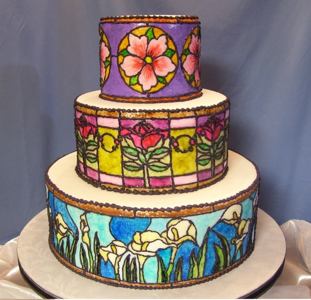 Stained Glass Wedding Cakes  Stained Glass Cake Cake Decorating munity Cakes We Bake
