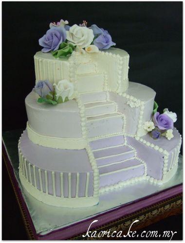 Staircase Wedding Cakes  Love Stairs Wedding Cake