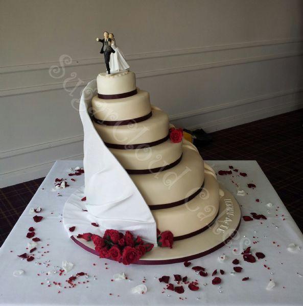 Staircase Wedding Cakes  Sugar Cloud Cakes Cake Designer in Haslington Crewe UK
