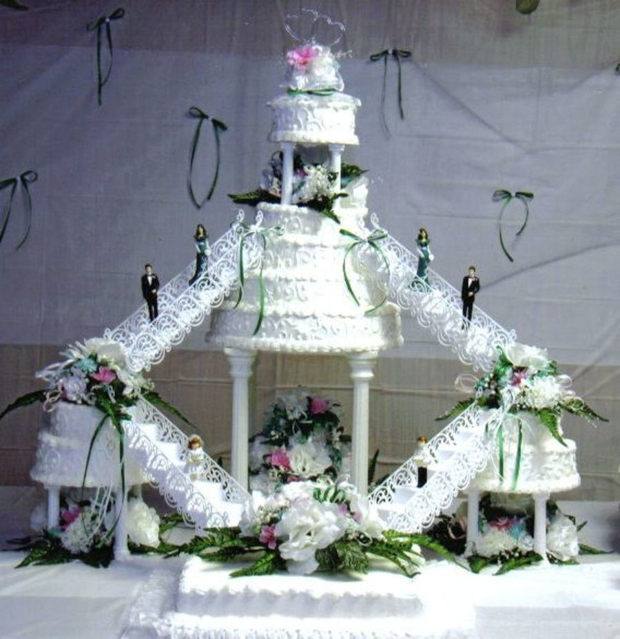 Staircase Wedding Cakes  Double Staircase Cake CakeCentral