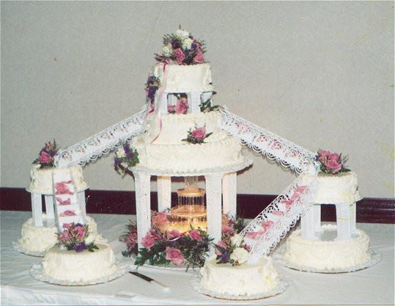 Staircase Wedding Cakes  Staircase wedding cakes idea in 2017