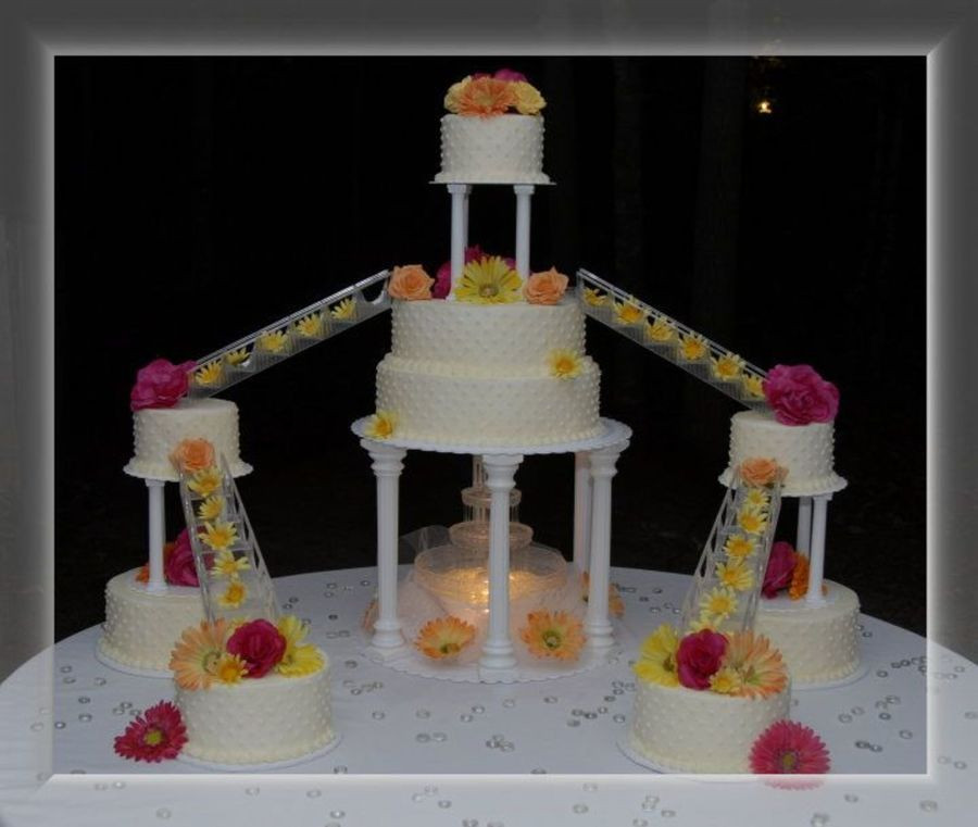 Staircase Wedding Cakes  Wedding Cake With Stairs CakeCentral