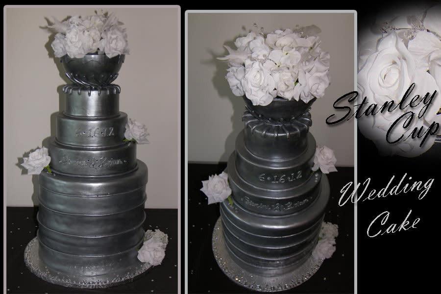 Stanley Cup Wedding Cakes  Stanley Cup Wedding Cake cake by inspireddecorator23