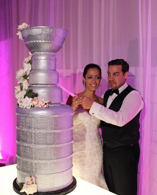 Stanley Cup Wedding Cakes  Unique wedding cake silver Stanley Cup