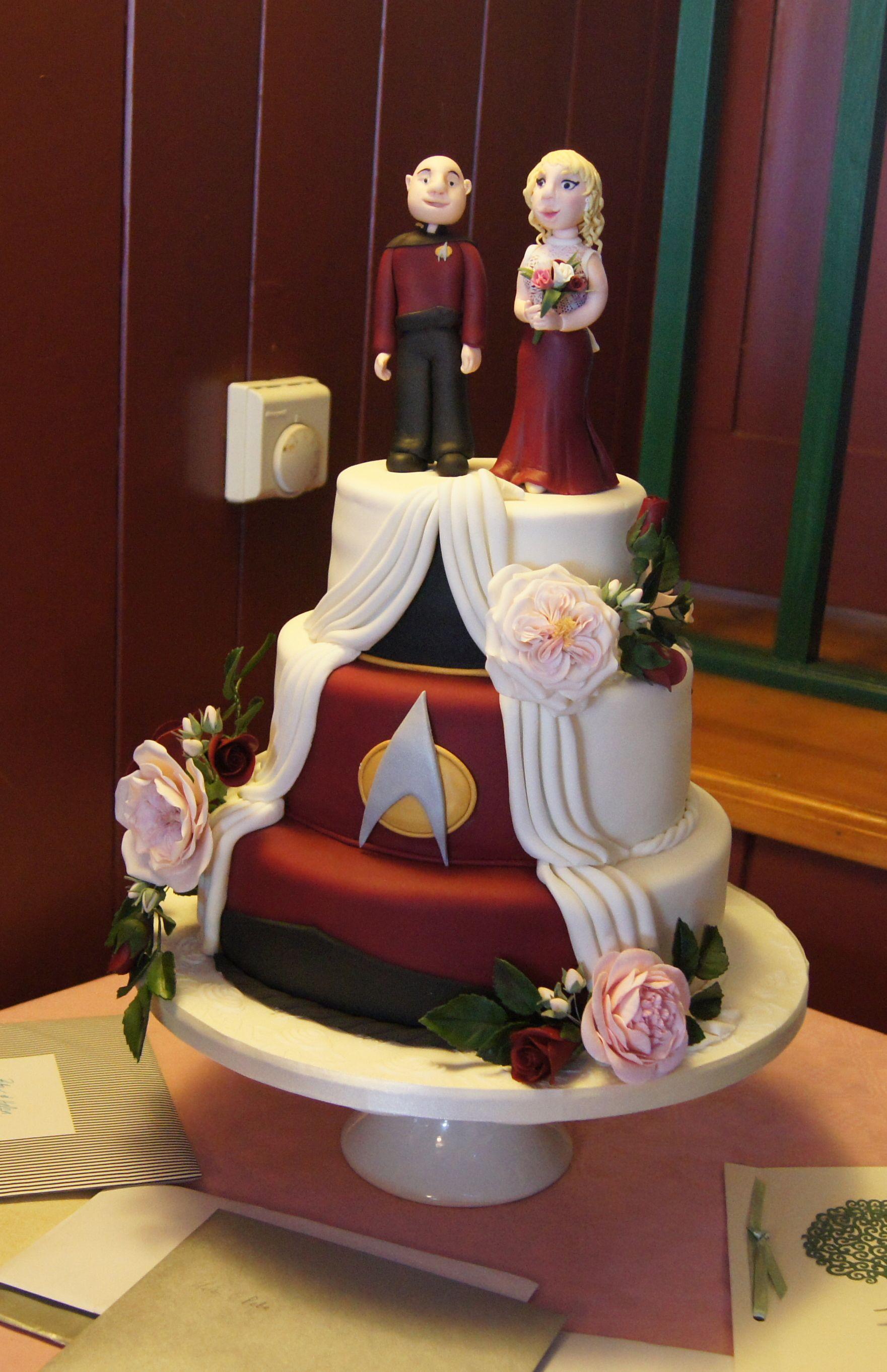 Star Trek Wedding Cakes  My wonderful Star Trek Wedding Cake by Cindy Alderman