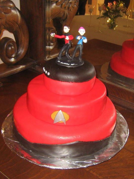 Star Trek Wedding Cakes  Star Trek Wedding Cake by crazy fae on DeviantArt