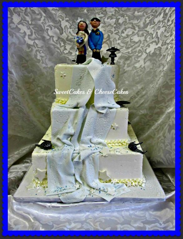 Star Trek Wedding Cakes  17 Best images about Wedding Anniversary Cakes on