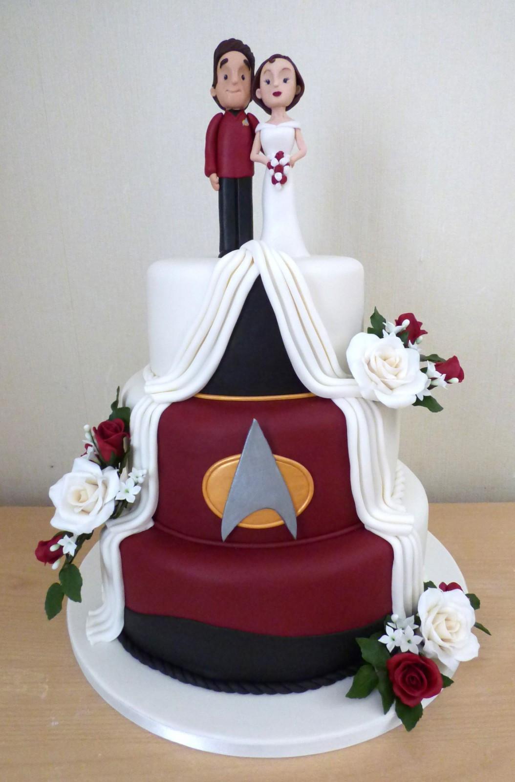 Star Trek Wedding Cakes  3 Tier Star Trek Themed Wedding Cake Susie s Cakes