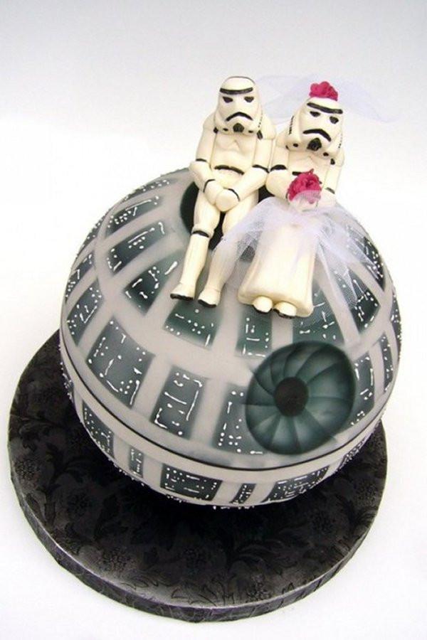 Star Wars Wedding Cakes  Cutest Death Star Wedding Cake Ever