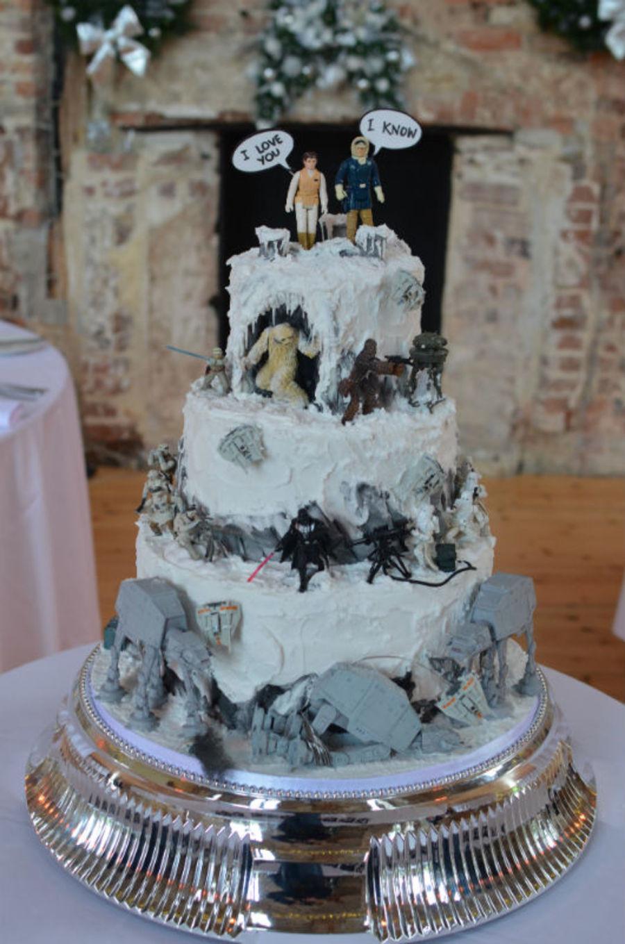 "Star Wars Wedding Cakes  Star Wars ""battle Hoth"" Wedding Cake Models Supplied By"