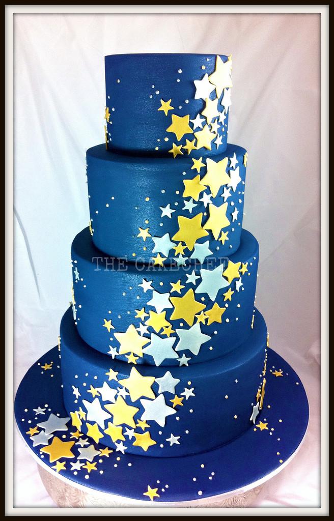 Star Wedding Cakes  Starry Starry Night