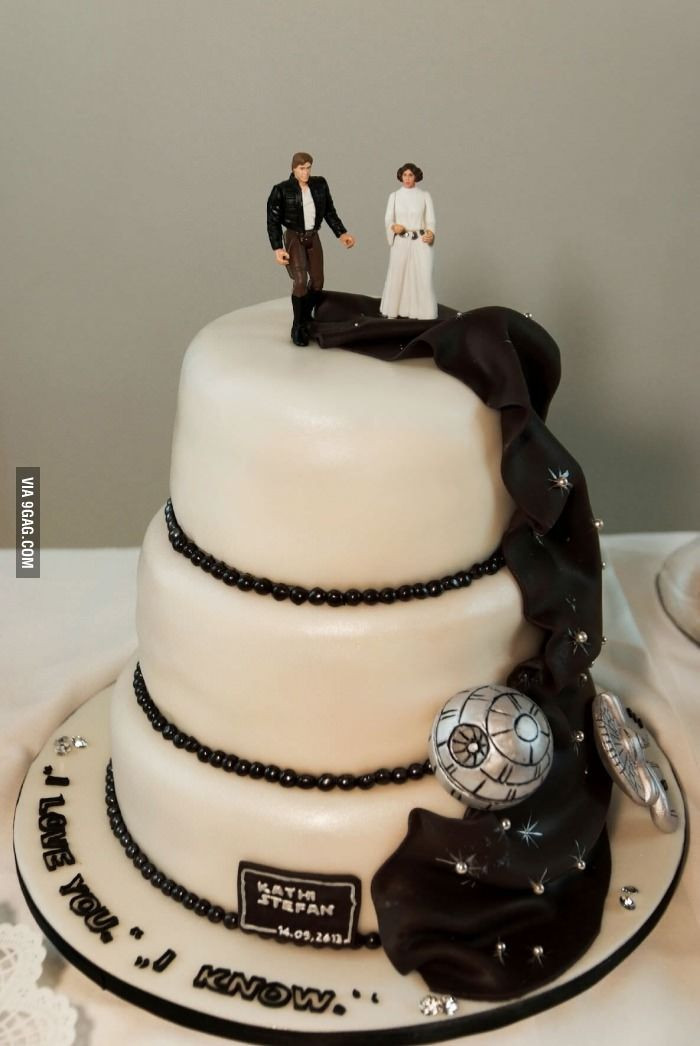 Star Wedding Cakes  209 best images about Star Wars Wedding on Pinterest