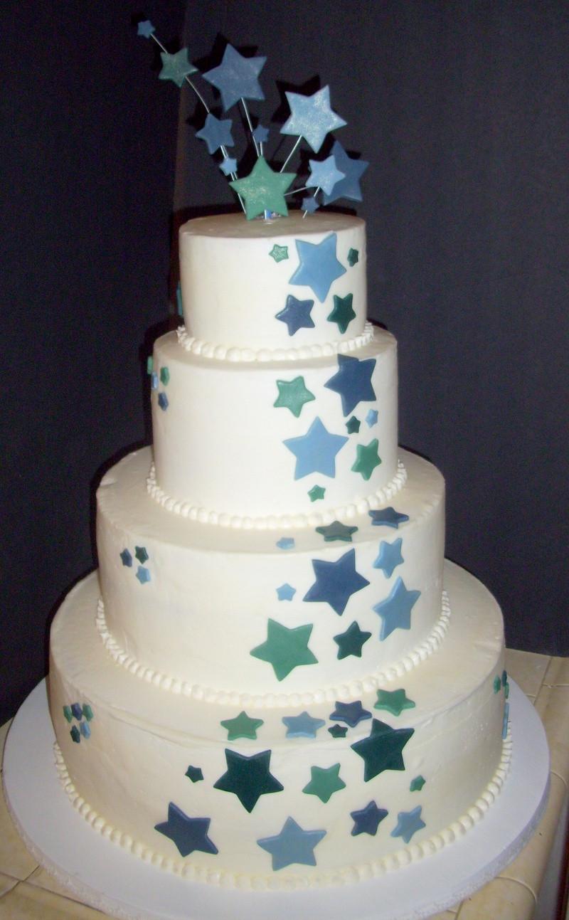 Star Wedding Cakes  Star Themed wedding