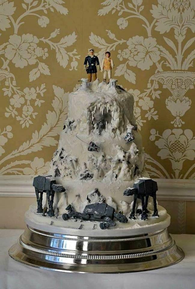 Star Wedding Cakes  Star Wars wedding cake Star Wars