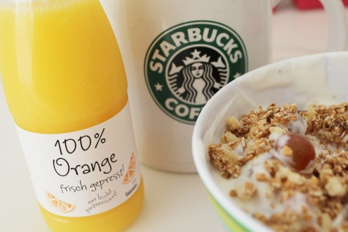 Starbucks Healthy Breakfast  food health orange starbucks coffee tea breakfast juice