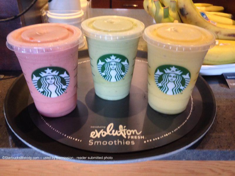 Starbucks Healthy Smoothies  In testing Starbucks new Evolution Fresh Smoothies