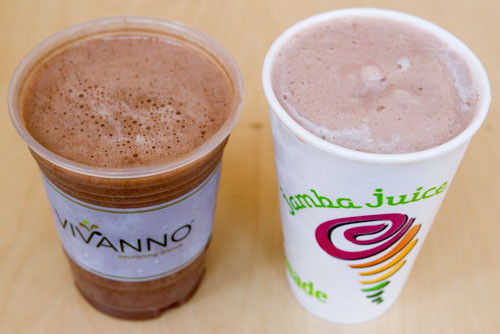 Starbucks Healthy Smoothies  Starbucks Vivanno Vs Jamba Juice Smoothies