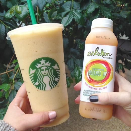 Starbucks Healthy Smoothies  starbucks smoothies vegan